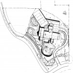 The Swansea Site Plan features a 10,800 sq.ft. home, pool, tennis court & private lake